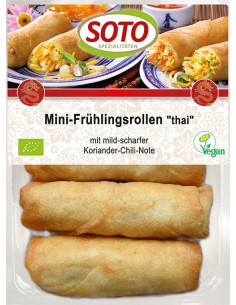Mini rollitos estilo thai